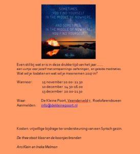 Uitnodiging meditatie